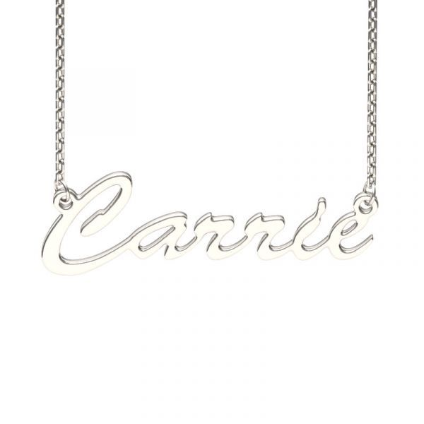 An image of Personalised My Name Pendant made by Nayab Jewelry which is made of Pure Sterling Silver.